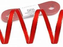 Christmas Taffeta Ribbon width 9 mm with lurex