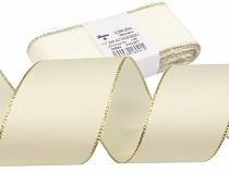 Christmas Taffeta Ribbon width 40 mm with lurex