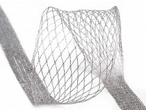 Metallic Decorative Wired Mesh Ribbon
