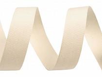 Wstążka bawełniana / płócienna szerokość 15 mm jednokolorowa