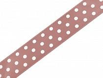 Satin Ribbon width 19 mm polka dots