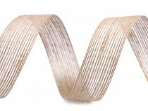 Jutová stuha dvoubarevná šíře 25 mm