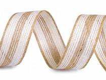 Panglică din iută bicoloră, lățime 25 mm
