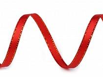 Wstążka satynowa z lureksem szerokość 6 mm