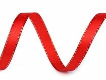 Wstążka satynowa z lureksem szerokość 10 mm