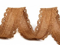 Imitation Jute Ribbon with cut-out Edges width 35 mm