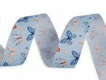 Satinband mit Schmetterlingen Breite 25 mm