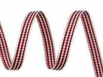 Checkered / Plaid Ribbon width 6 mm