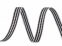 Kariertes Band Breite 6 mm
