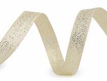 Panglică cu fir lame, lățime 10 mm
