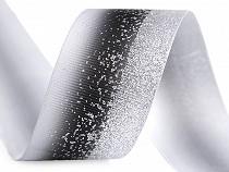 Ripsz szalag melírezett glitterrel szélessége 40 mm