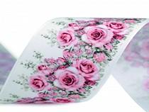 Satin Ribbon Rose, width 40 mm