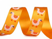 Easter Satin Ribbon width 24 mm Geese