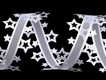 Vánoční vysekávaná stuha hvězdy šíře 40 mm