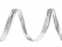 Band mit Lurex und Draht Breite 10 mm