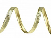 Panglică lurex cu fir de sârmă pe margini, lățime 10 mm