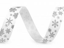 Wstążka bawełniana śnieżynki szerokość 15 mm