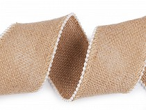 Jute Ribbon with Beads width 65 mm