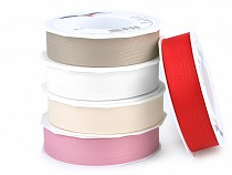Recycled Grosgrain Ribbon width 25 mm made of PET bottles