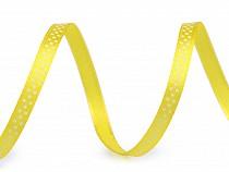 Satinband mit Punkten Breite 6 mm