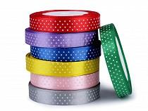 Satin Ribbon with Polka Dots width 15 mm