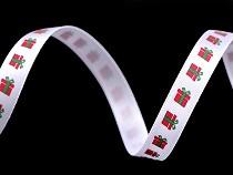 Vánoční saténová stuha šíře 10 mm svazky 3 m