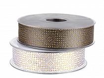 Wstążka satynowa szerokość 25 mm nadruk 3D