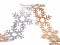 Christmas Self-adhesive Trim - Snowflakes width 35 mm