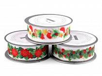 Vánoční stuha šíře 35 mm s lurexem