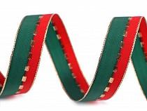 Weihnachtsband Breite 22mm mit Lurex