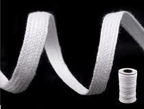White Cotton Flat Tape Braid width 5mm