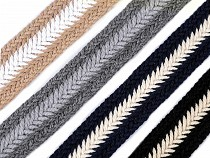 Braided Webbing Tape for Handbag Handles width 35 mm