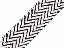 Pamut kétoldalas vonal mintával szélessége 38 mm