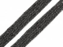 Oděvní šňůra / knot šíře 12 mm plochá