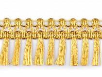Leonské strapce zlaté šírka 45 mm