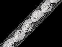 Tüllborte Breite 20 mm mit Perle