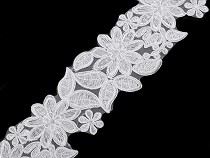 Embroidered Flower Applique Lace Trim width 70 mm