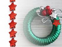 Borte mit Sternenperlen / Sternen auf Schnur / Weihnachtsschnur Breite 10 mm