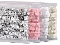 Perlenborte - Halbperlen Breite 9 mm