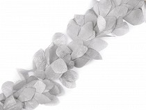 Clothing Braid / Trimming Leaves width 100 mm Pearl Effect