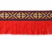 Prýmek indiánský s třásněmi šíře 35 mm