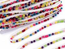 Taśma ozdobna z perełkami pokrytymi zamszem szerokość 12 mm