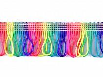 Saténové strapce šírka 45 mm dvojité neon