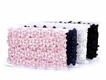 Prýmek květ s perlou na monofilu šíře 35 mm