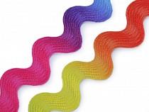 Prýmek / hadovka duhová šíře 10 mm