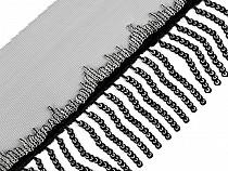 Monofilborte mit Pailletten Fransen Breite 13 cm