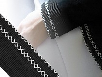 Pleated Trimming Embroidered width 65 mm