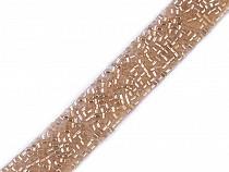 Paszomány vágott kásagyöngyökkel szélessége 15 mm felvasalható