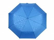 Dámský skládací vystřelovací deštník s jemným vzorem 2. jakost