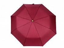 Női összecsukható kilövős esernyő pöttyökkel